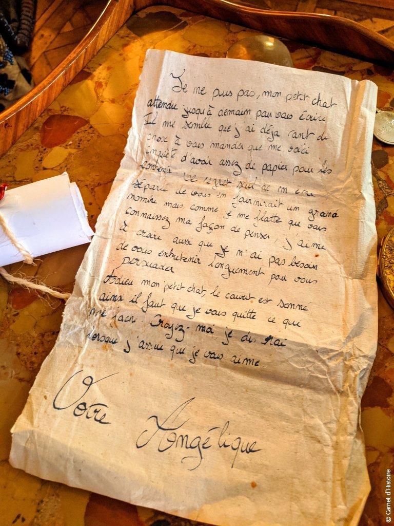 Lettre d'amour d'Angélique à Charles