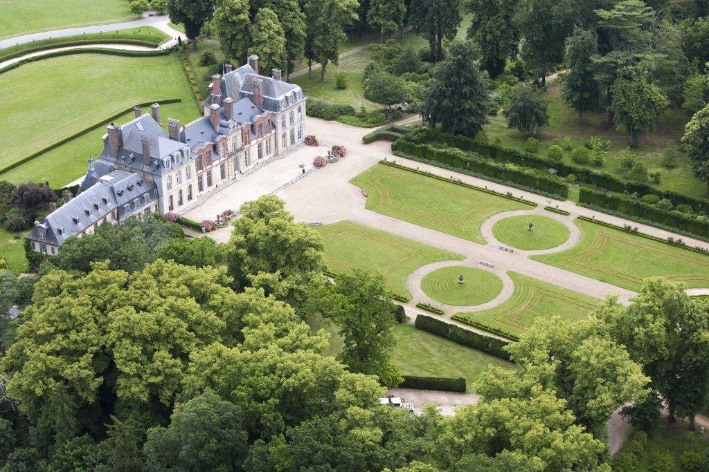Château de Thoiry vu du ciel