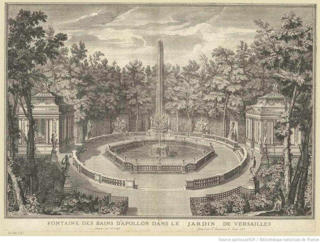 Fontaine des bains d'Apollon par Louis Simmoneau