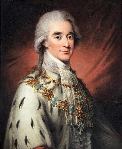 Portrait d'Axel de Fersen par Carl Frederik von Breda