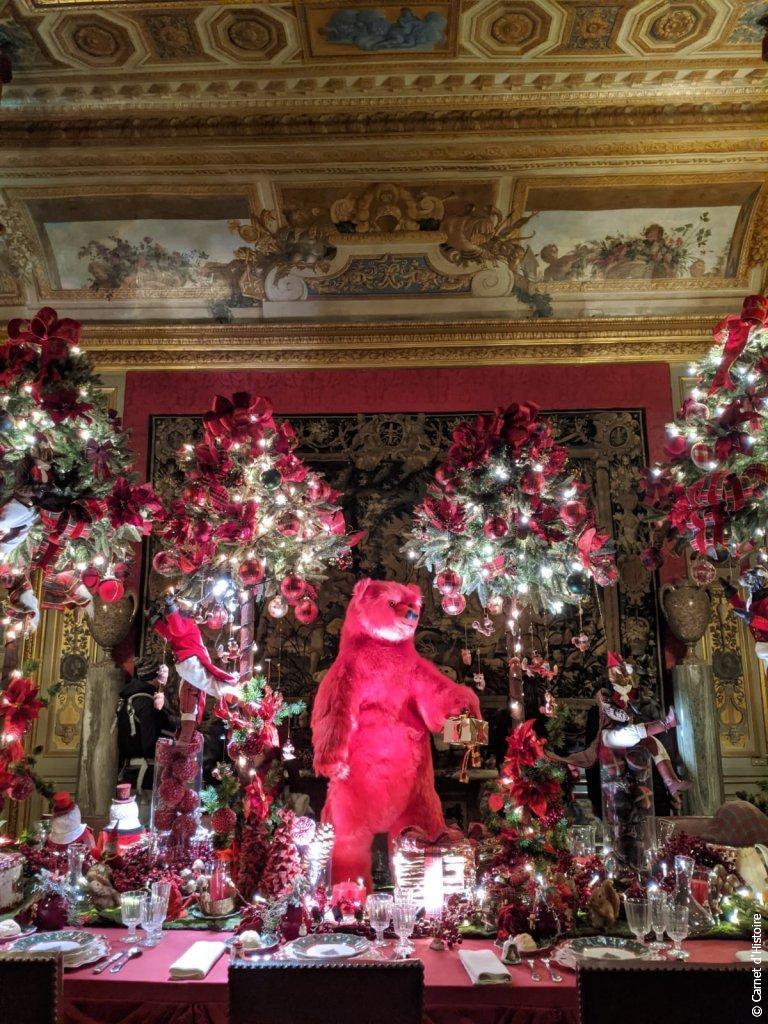 Décorations de Noël dans les salons de Vaux-le-Vicomte