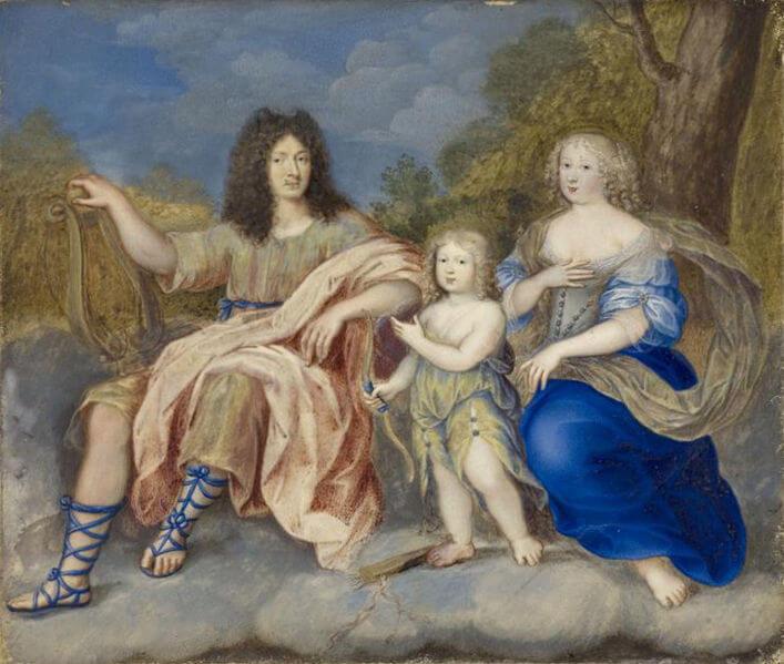 Louis XIV, Marie Thérèse et le Dauphin
