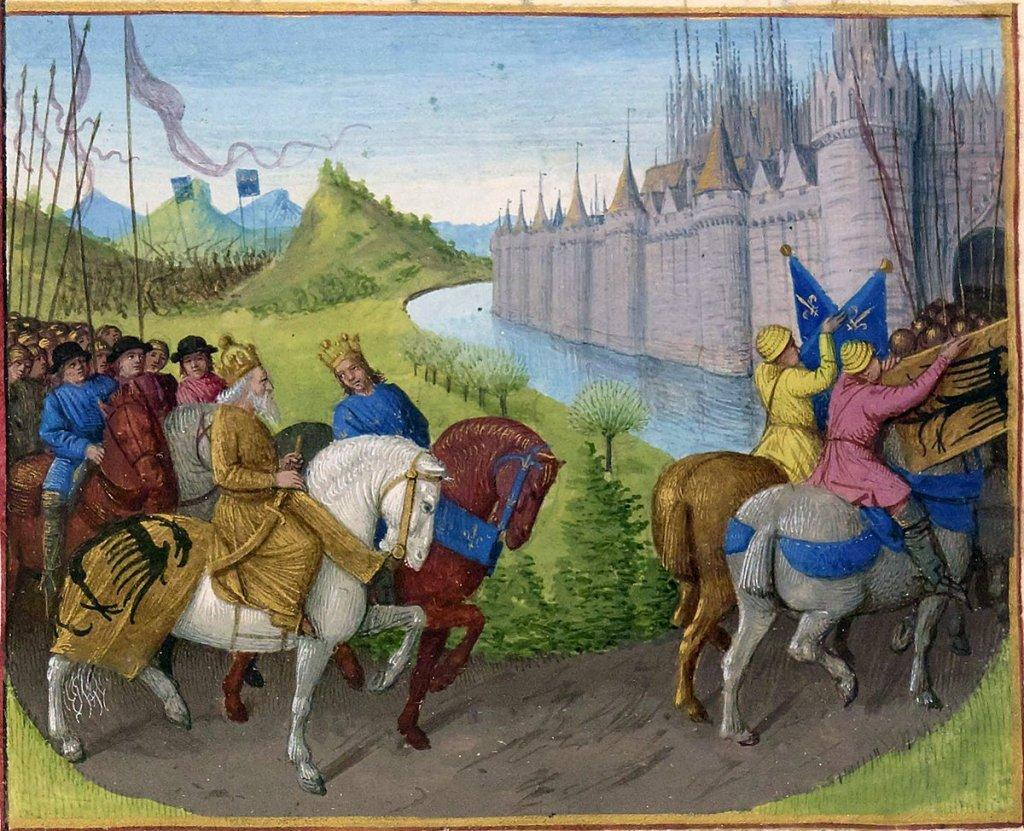 Arrivée de Louis VII à Constantinople