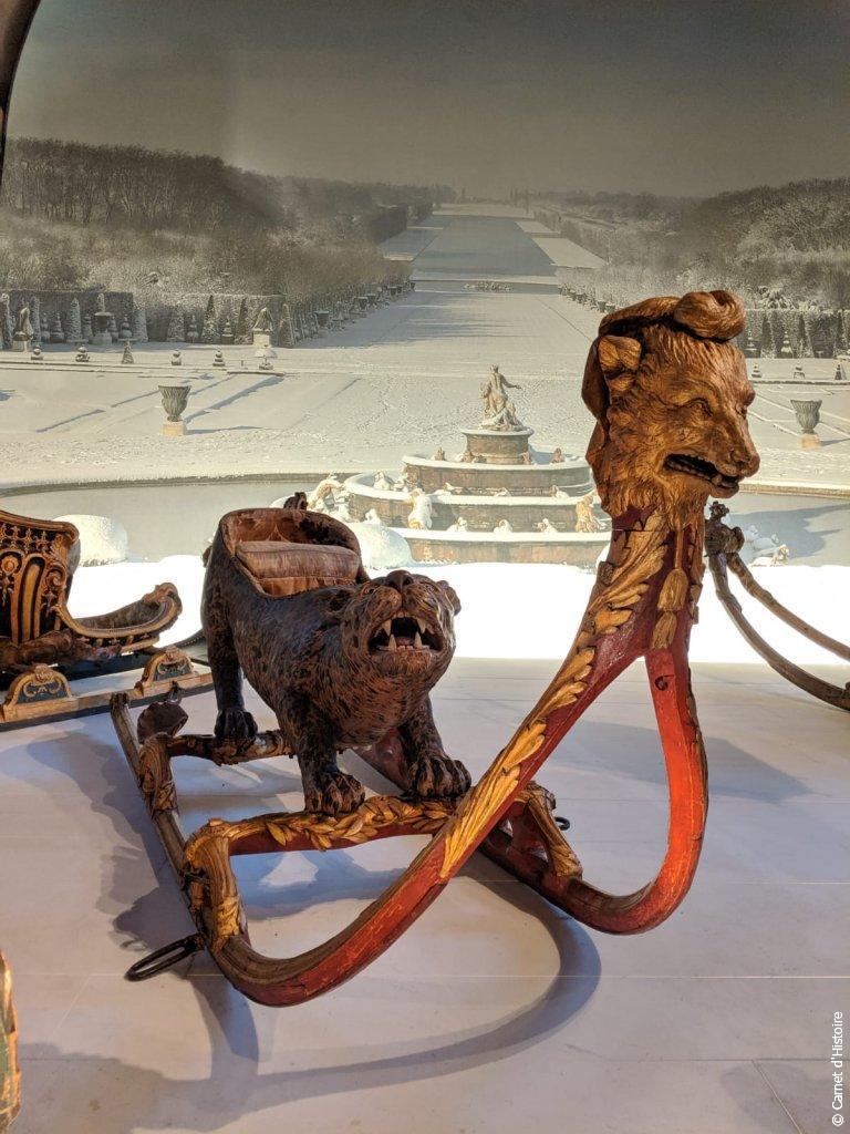 Luge utilisé dans les jardins du Château de Versailles