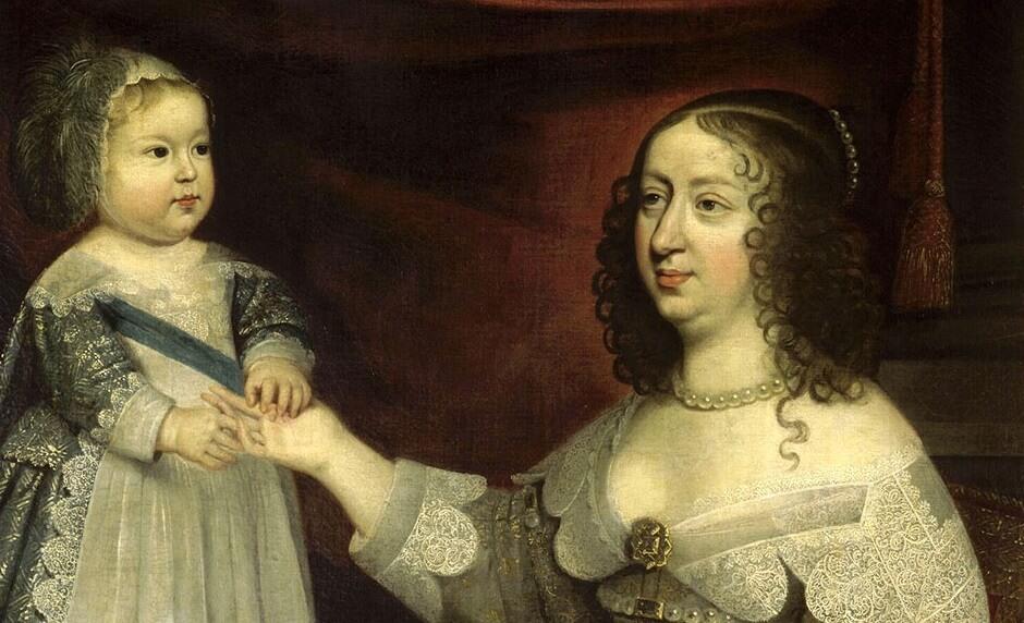 Anne d'Autriche et Louis XIV enfant