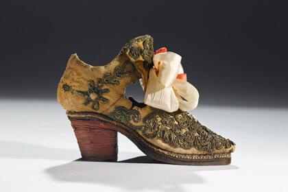 Chaussure d'un jeune noble au 17ème siècle