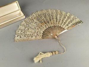 Eventail En Duchesse De Bruxelles - fin du XIXème siècle