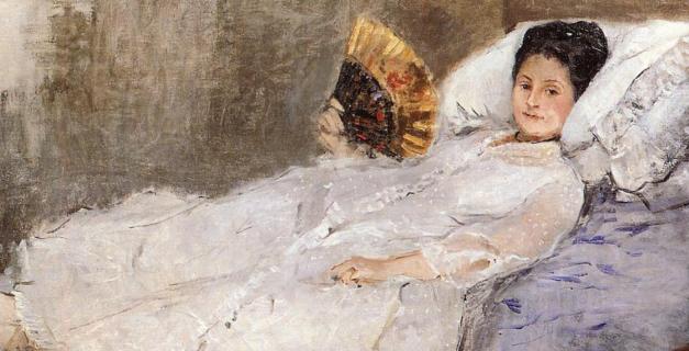 Berthe Morisot, Femme à l'éventail. Portrait de Madame Marie Hubbard, 1874
