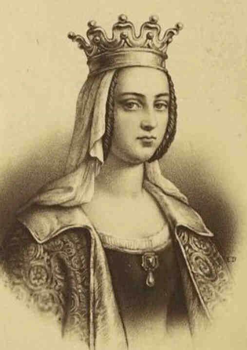 Portrait d'Hildegarde épouse de Charlemagne