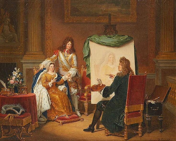 Louis XIV et son épouse Madame de Maintenon