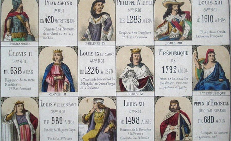 Les surnoms des Rois de France
