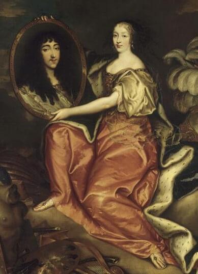 Henriette d'Angleterre portant le portrait de Monsieur son mari