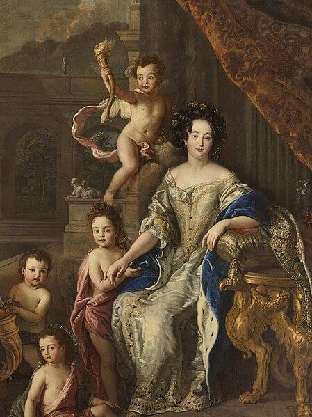 Madame de Montespan favorite de Louis XIV avec ses enfants