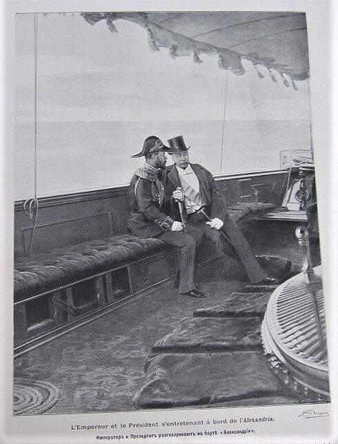 Tsar Nicolas II et Felix Faure à Alexandria