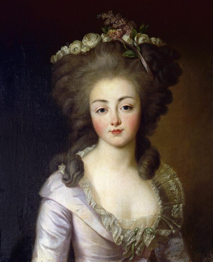 Diane Louise Augustine de Polignac par François-Hubert Drouais