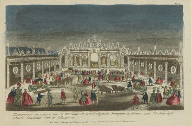 Illuminations mariage Marie-Antoinette Louis XVI