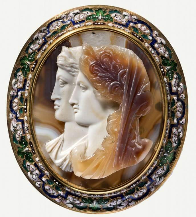 Bustes d'Agrippine l'Aînée en Cérès et Agrippine la Jeune en Aphrodite ou Héra