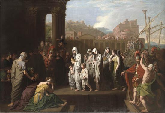 Agrippine arrivant à Brindisi avec les cendres de Germanicus