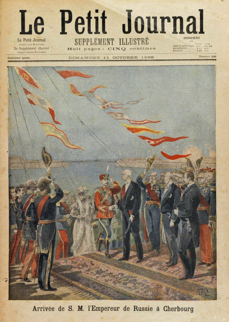 Nicolas II arrivant à Cherbourg