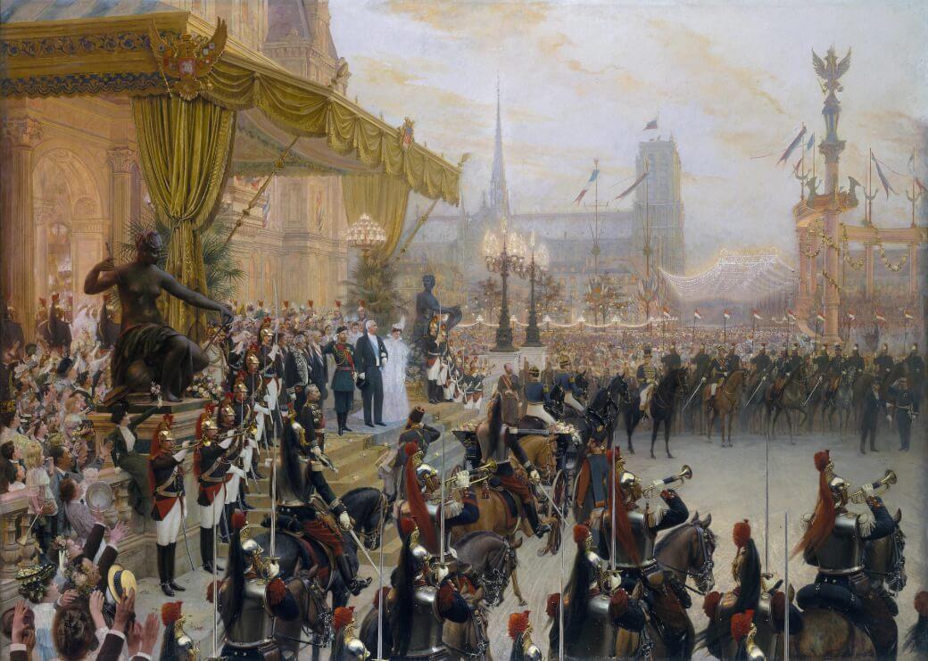 Décorations de Paris pour la famille Romanov