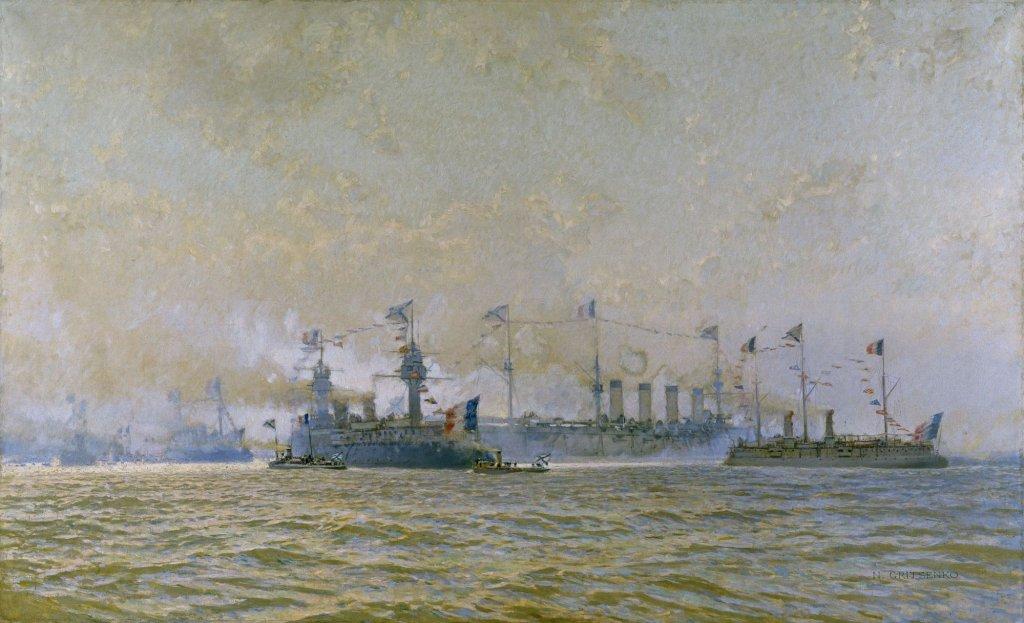 Escadre française à Cronstadt