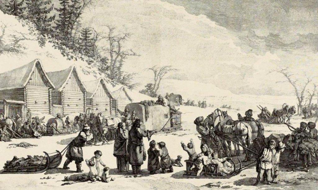 Illustration du Grand Hiver de 1709