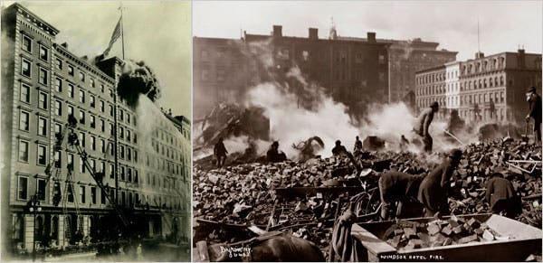 Incendie de l'Hôtel Windsor à New-York