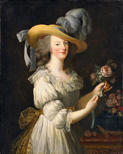 """La reine """"en gaule"""" Élisabeth Vigée Le Brun 1783"""