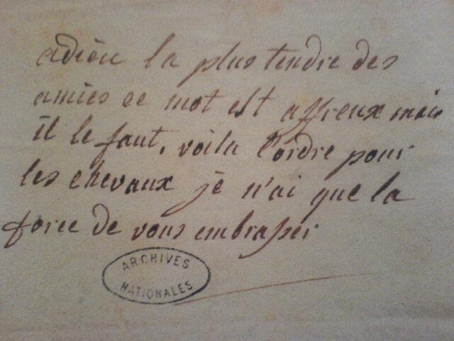 Mot de Marie-Antoinette a Gabrielle de Polignac
