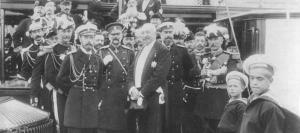 Tsar Nicolas II et Felix Faure