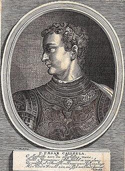 Gravure de l'Empereur Caligula