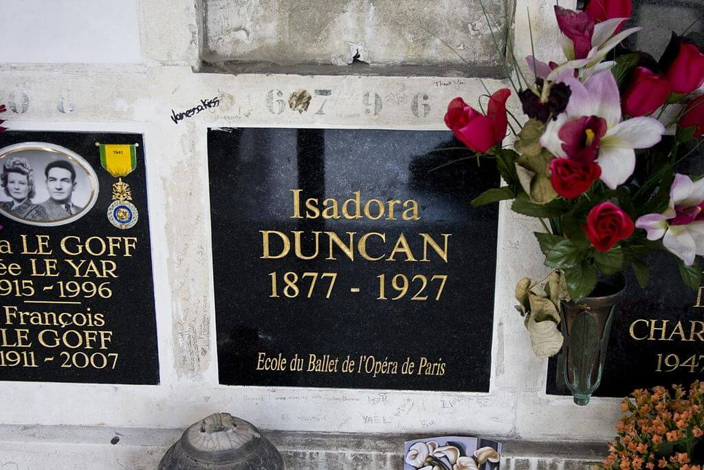Tombeau Isadora Duncan