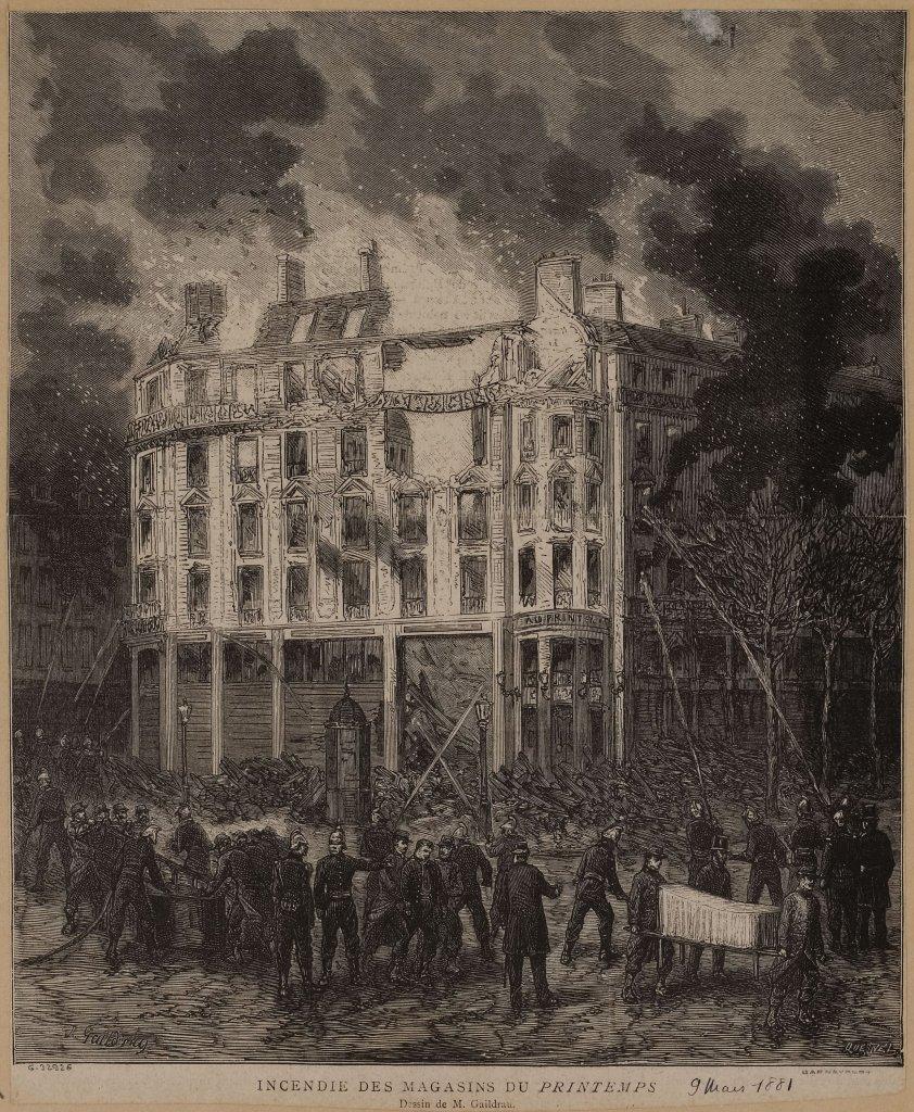 incendie magasin printemps 1881