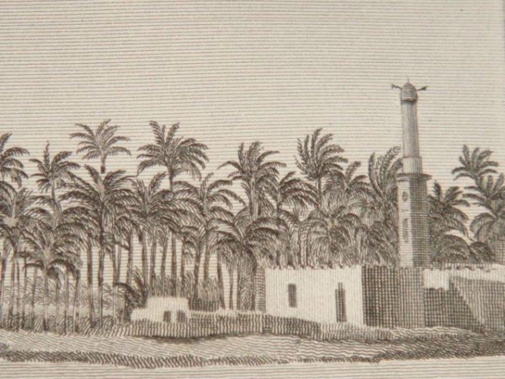Illustration de la ville de Rosette en Egypte