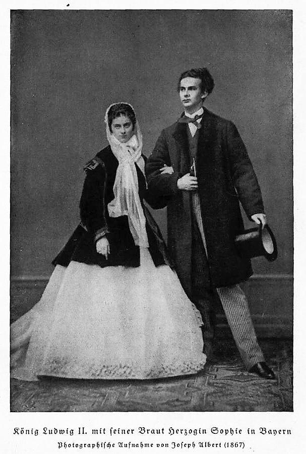 Sophie-Charlotte en Bavière et Louis II de Bavière